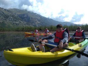 In canoa sui Monti del Matese