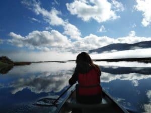 In Canoa Canadese sul Lago del Matese